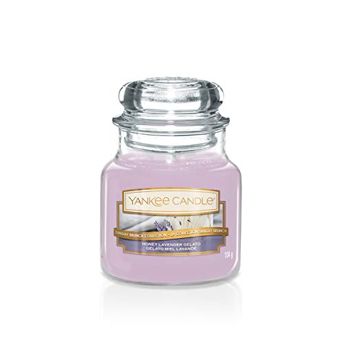Sunday Brunch Collection by Yankee Candle Small Jar Candle, Honey Lavender Gelato