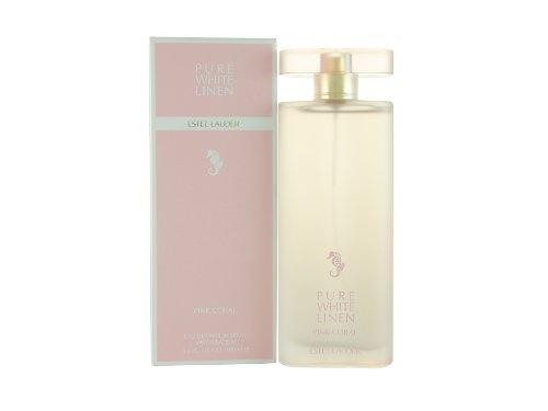Estee Lauder Linen Pink Coral Eau De Parfum Spray for Women, Pure White Linen Pink, 3.4 (Estee White Pure Spray)