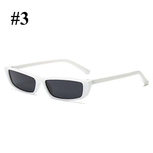 moda white Mujer de aire gray al Hanbaili libre Gafas Ladies para Gafas de Sexy sol retro SwTYq