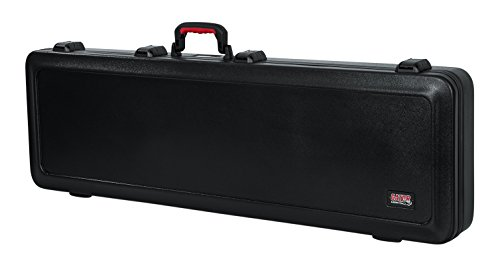 Gator Cases Molded Flight Case For Bass Guitar With TSA Approved Locking Latch (GTSA-GTRBASS)