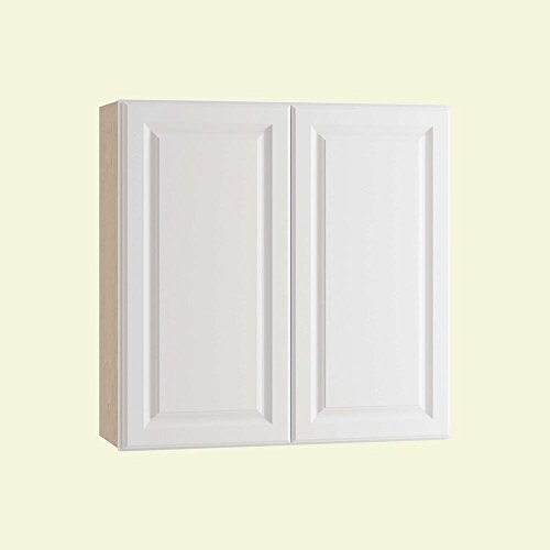 Home Decorators Collection Assembled 33x30x12 in. Wall Double Door Cabinet in Hallmark Arctic White (W3330 Wall Cabinets)