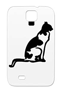 Animals Nature Cats Black Protective Case For Sumsang Galaxy S4 TPU Cat