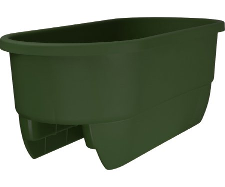 Apollo DUALGREEN Adjustable Deck Railing Planter, 24-Inch, Green
