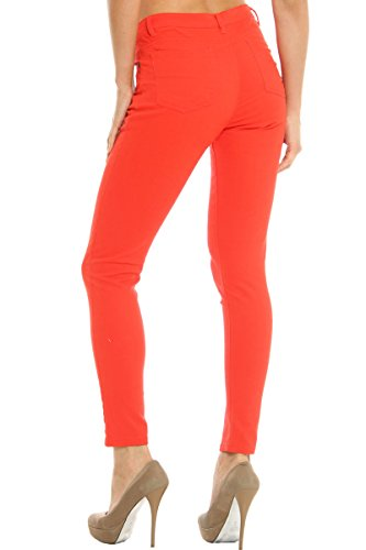 Hey Collection Juniors High-Waisted Brushed Stretch Twill Skinny Jeans