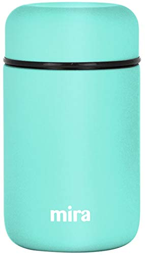 MIRA Lunch, Food Jar, Vacuum Insulated Stainless Steel Lunch Thermos, 13.5 Oz (Teal)