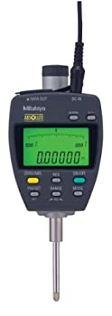"Mitutoyo 543-552A Absolute LCD Digimatic Indicator ID-F, with Back-Lit LCD, #4-48 UNF Thread, 0.375"" Stem Dia., 0-1""/0-25.4mm Range, +/-0.00012"" Accuracy"