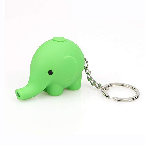 WUAI Clearance Deals, Halloween Toy Gift for Kids,Cute Cartoon Elephant Keychain with LED Light and Sound (Green) for $<!--$0.42-->