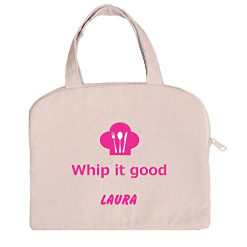 Personalized Custom Text & Novelty Whip It Good Cotton Canvas Tablet Bag Case