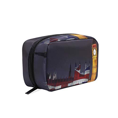 Cosmetic Bag London Big Ben Union Jack Girls Makeup Organizer Box Lazy Toiletry Case