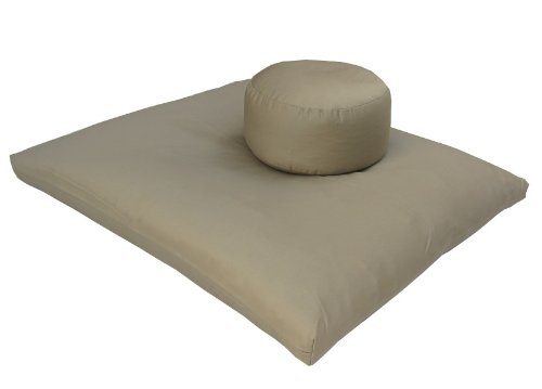 Round Zafu and Zabuton Meditation Cushion Set (2pc) (Sand)