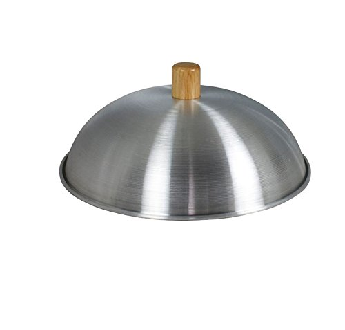 "Dexam Aluminium Wok Lid With Wooden Knob - Suitable For 12"" - 30Cm Woks - Sits Inside The Wok"