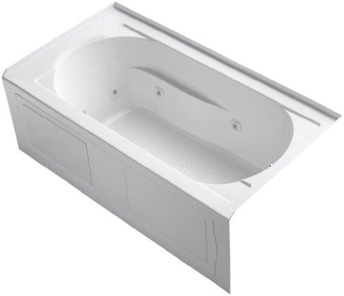 KOHLER K-1357-RA-0 Devonshire 5-Foot Whirlpool, White
