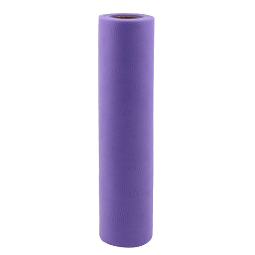 uxcell® Gift Packing Wrapping Sewing DIY Decor Voile Tulle Spool Roll 12 Inch x 25 Yards Purple
