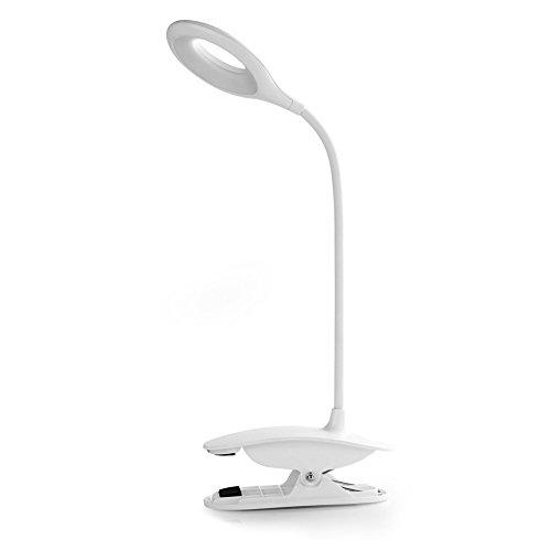 Clip Desk Lamp Table LED Bulb Lamps Set USB Outlet White ...