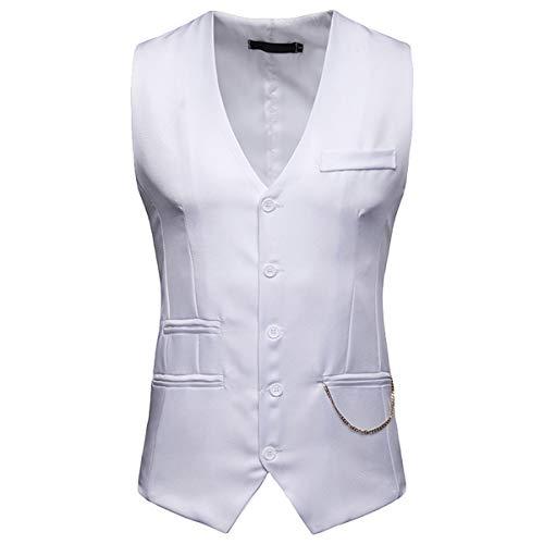 Blanc Euow Costume Homme D'affaires Petit Gilet xwRR8TqO0
