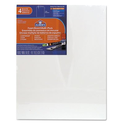 Pre-Cut White Foam Board Sheets, 11 x 14, 4/PK, Sold as 4 Each