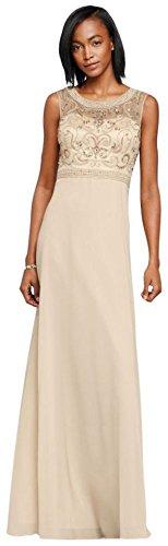 Long Chiffon Mother of Bride/Groom Dress with Beaded Illu...