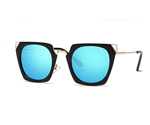 Shun Fat Anti-UV sunglasses woman driving glasses (Blue color, - Fat Man Sunglasses