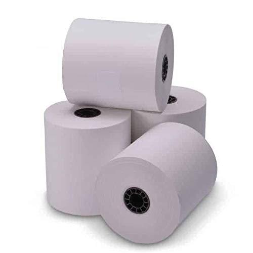 TEK POS - 3'' x 165' - Single-Ply - White Bond Receipt Roll Paper - 50 Rolls - USA Made by TEK POS PAPER