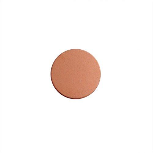 12 Round Copper 1/2 Inch Metal Stamping Blank 24 Gauge Circle Blank