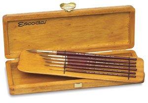 Escoda Reserva 1212 Watercolor & Acrylic Kolinsky-Tajmyr Sable Paint Brush Round Pointed; Size 20