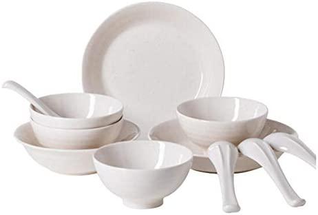 LIGQQ Vajilla de cerámica Set 12 esmaltado Color vajilla ...