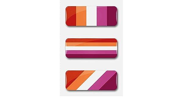 LGBT Lesbian Pride Flag pin badge button 25x70mm