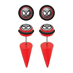 Spiderman Red Acrylic Fake Tapers