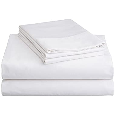 Brielle 100-Percent Rayon Bamboo Sheet Set, California King, White