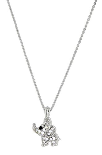 Forever Crystals Swarovski Crystal Elephant Necklace on 16