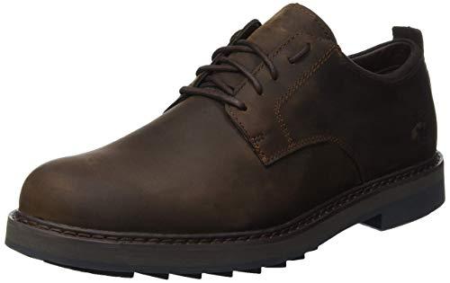 Timberland Men's Squall Canyon Plain Toe Waterproof Oxford Dark Brown Full Grain 12 D -