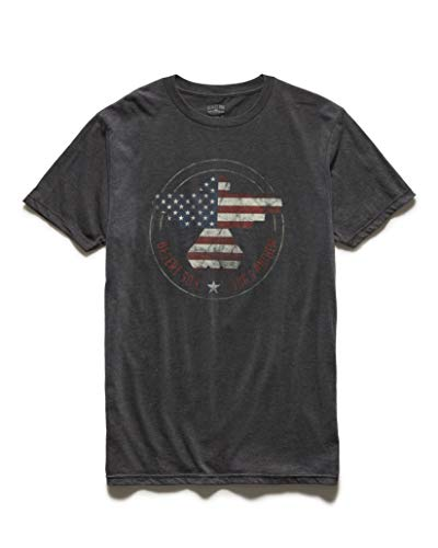 Flag & Anthem x Dierks Bentley Vintage Style Heather Graphic Tee, L, Freedom Riser Charcoal