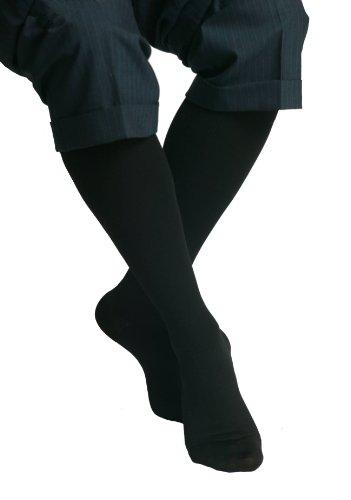Maxar compression graduée chaussettes de voyage, noir, microfibre, unisexe, Large (12-15 mmHg)