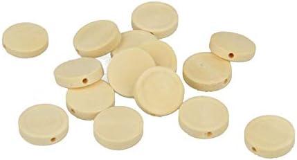 Artemio Wooden Flat Round Beads 15/mm