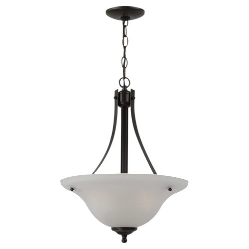 (Sea Gull Lighting 65941-782 Windgate Two-Light Pendant Hanging Modern Light Fixture, Heirloom Bronze Finish)