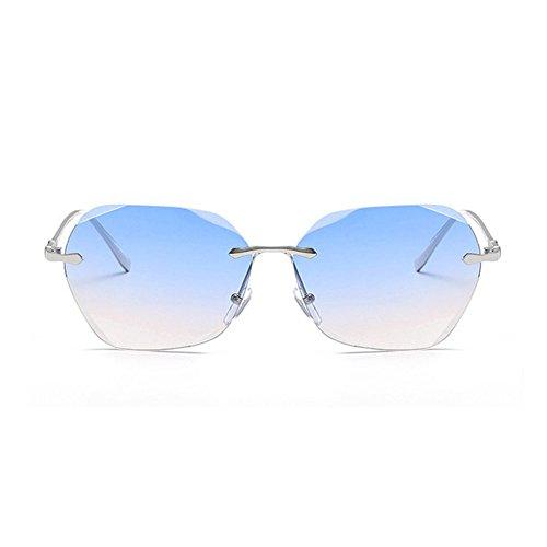 Aoligei Dame de tendance lunettes de soleil Fashion coloré océan film lunettes de soleil femme ronde frame lunettes de soleil avec miroir qgkBY