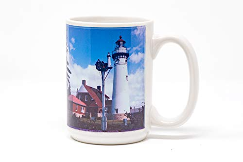 Seul Choix Michigan Lighthouse Coffee Mug, Hand Imprinted Photo