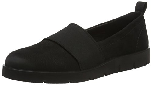 Slip Bella Women's Black Ecco on Stretch Women's Flat wvBnnSqIx7
