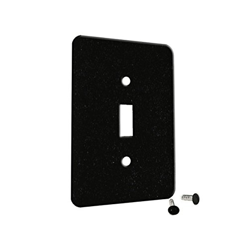 Granite Absolute Black - Decor Single Switch Plate Cover Metal Absolute Black Granite