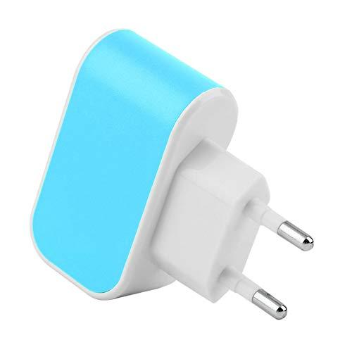 Azul RoadRoma Adaptador de Cargador de Corriente alterna de Viaje de Pared de Puerto USB Triple de Pared Enchufe de la UE 3.1A
