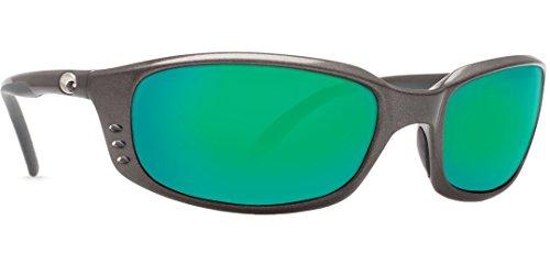 Costa Del Mar Brine Sunglasses, Black, Green Mirror 400G Lens ()