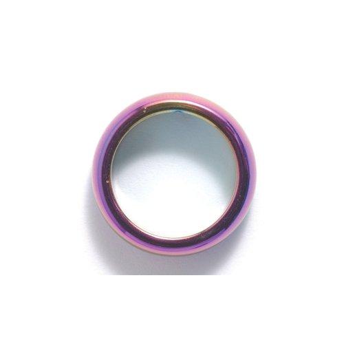Hematite Ring - Shipwreck Beads Hematite Iris Ring, Size 5 (Pack of 2)