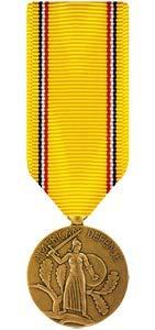 Medals of America American Defense Service Medal Miniature Bronze