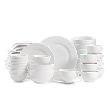 Gibson Regent Street 48-Piece Dinnerware Set | Strong and durable, the set resists staining and chipping by Gibson.