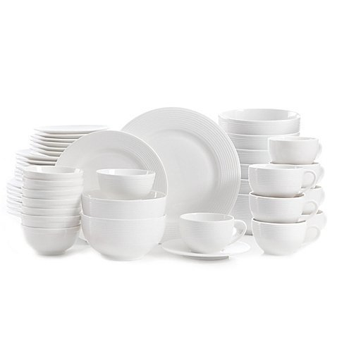 Gibson Regent Street 48-Piece Dinnerware Set   Strong and durable, the set resists staining and chipping by Gibson.