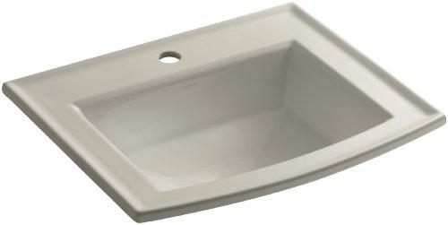 - KOHLER K-2356-1-G9 Archer Self-Rimming Bathroom Sink with Single-Hole Faucet Drilling, Sandbar