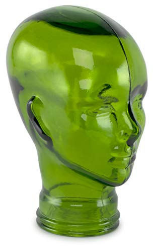 Traders and Company Spanish 100% Recycled Glass Emerald Green Head - 11.5