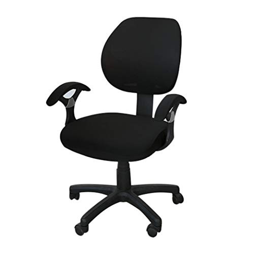 KKONION Rotating Lift Computer Chair Cover Anti-Dust Office Chair Gaming Armchair Slipcover Swivel Boss Seat Protector (Swivel Chair Plaid)
