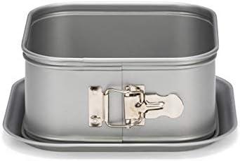 Patisse Silver-Top Extra High Square Springform Nonstick Pan, Silver Grey