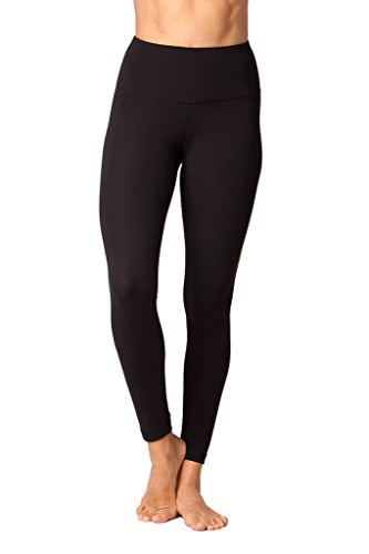 Yogalicious High Waist Ultra Soft Lightweight Leggings -  High Rise Yoga Pants - Black - Small